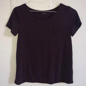 H&M Dark Purple Pocketed T-Shirt